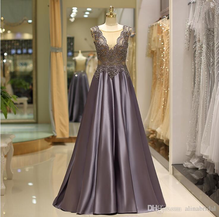 7998eb07 2019 elegant beaded elegant prom gowns customize sleeveless slim fit formal  evening dresses A-line floor length formal party dress 66723