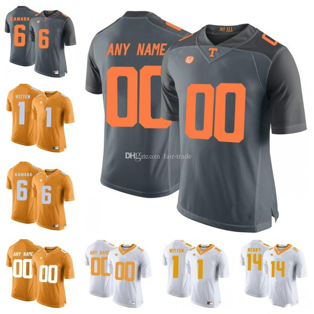 size 40 1871e 13d59 Custom Tennessee Volunteers #6 Alvin Kamara 16 Peyton Manning 1 Jason  Witten 14 Eric Berry Orange Gray White NCAA College Football Jerseys