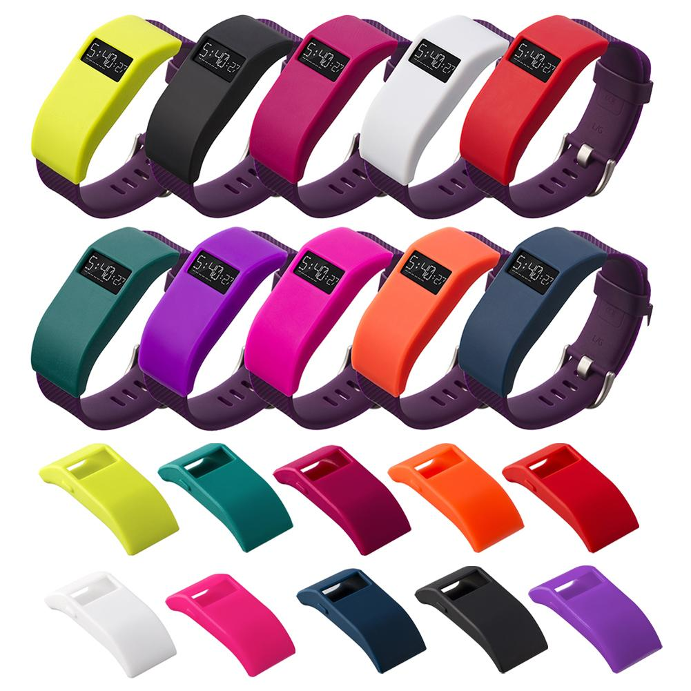 a741fb8c8 Compre Cubierta es Silicona TPU Funda Protectora Smartwatch Protector Shell  Cubierta Marco Para Fuerza / Carga / Fitbit Charge HR A $11.1 Del  Phone1_store ...