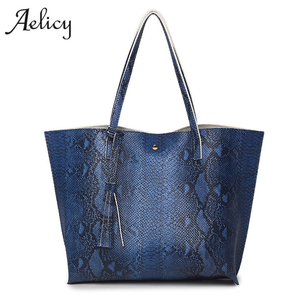 Aelicy New Arrival Women Leather Tassel Handbag Serpentine Pattern Shoulder  Bag Leather Traveling Bag Female Bags Designer Leather Backpack Clutch Bags  From ... d7b0429d6db6f