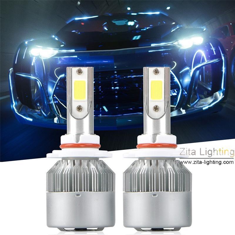 Zita Éclairage H4 H7 H1 H3 9005 9006 9007 HB2 9003 LED COB De Voiture Phare Ampoule Hi-Lo Faisceau Auto Phares de Voiture Phares Antibrouillards