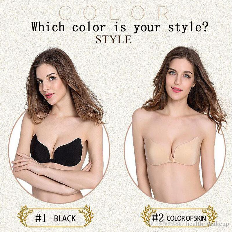 7f8e476146 2019 Women Invisible Bra Nubra Butterfly Wing Invisible Bras Push Up  Seamless Strapless Backless Bra Self Adhesive Stick On Invisible Bra From  Health makeup ...