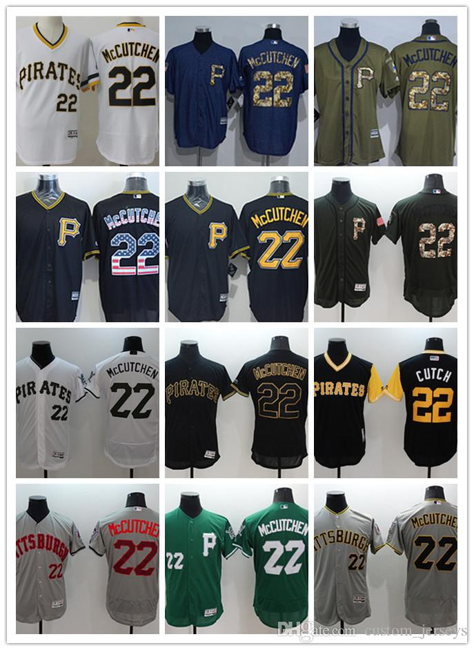 sneakers for cheap 5496a 85294 custom Men women youth Pittsburgh Pirates Jersey #22 McCutchen Black Yellow  Grey White Baseball Jerseys