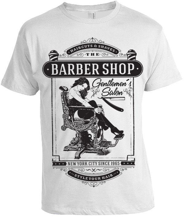 Gentlemans Salon Barber Shop T Shirt Mens Womens New York Pinup Hipster  Vintage Funny Political T Shirts Tee Designs From Customworld 90e94726a