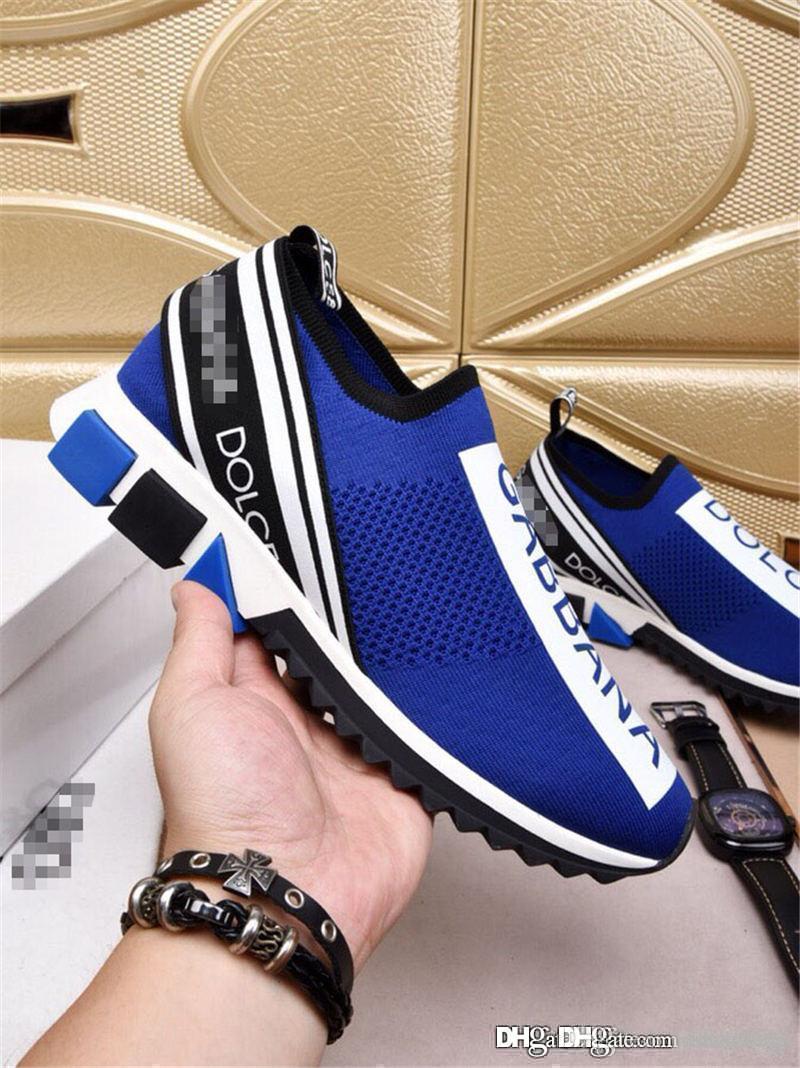 Acheter Haute Qualité Dolce Gabbana D.G Unisexe Bleu Tricot Sorrento  Sneaker Dg Logo Turquoise Mesh Baskets Courir Chaussures Décontractées Avec  La Taille ... 519bdc67c87b