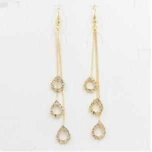 Teardrop Rhinestone Earrings For Women Silver Gold Tone Alloy Dangle Tassel  Earrings Casual  8406e503afbd