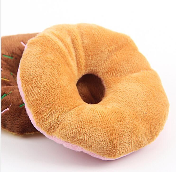 Sightly Lovely Pet Dog Puppy Cat Squeaker Quack Sound Toy Chew Donut anello animali cucciolo gatto Gioca suono Giocattoli