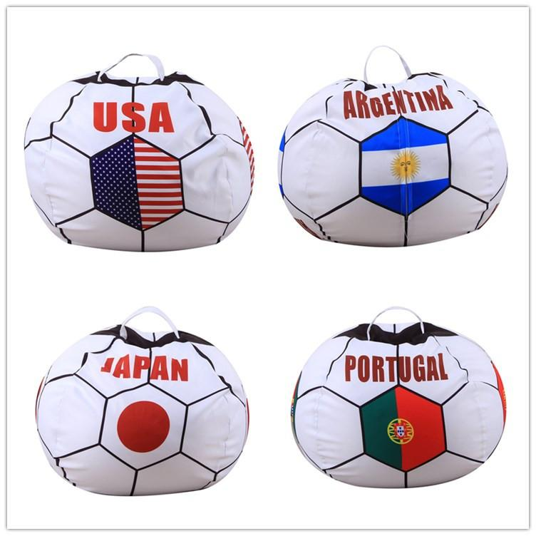 Digital Printing Russia World Cup Kids Storage Bean Bags Stuffed Animal Buggy bag Chair Portable Kids Toy Creative Storage Bag Play Mats