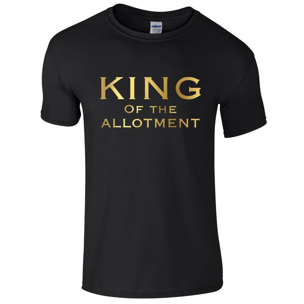 dcac14184eec KING OF THE ALLOTMENT Mens T-Shirt S-3XL Funny Printed Novelty Joke ...
