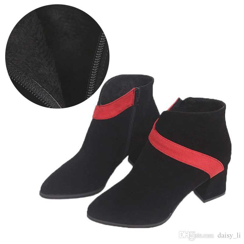6d358b4b74 Compre Mulheres Inverno Botas Chelsea Mulher Ankle Boots Quentes Femininos  Adicionar Botas De Veludo Moda Sapatos Calçados 2018   36 De Daisy li