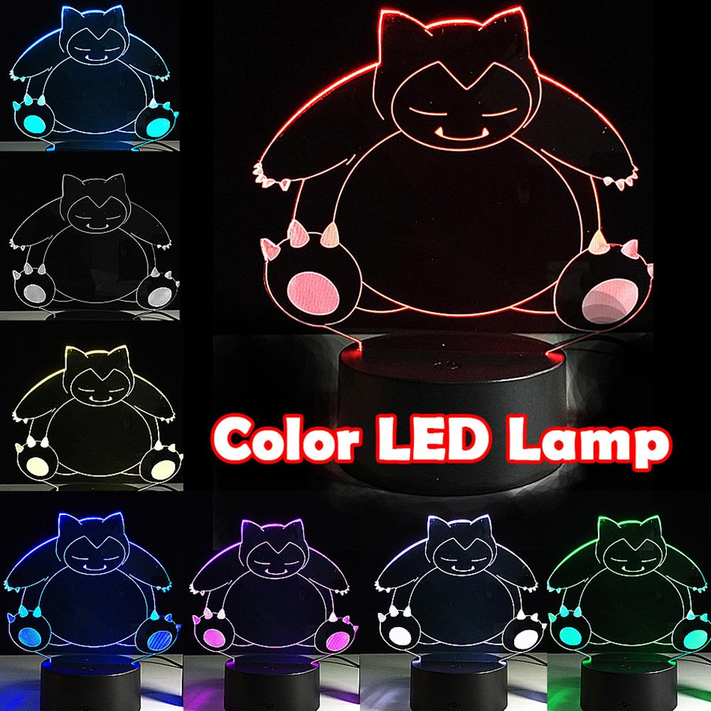 Party Sleep Lamp Color Snorlax Illusion Lantern Night Pikachu Favor Festival Usb Changing Visual Light Glow Touch Led 7 Sleeping dCQoExBeWr