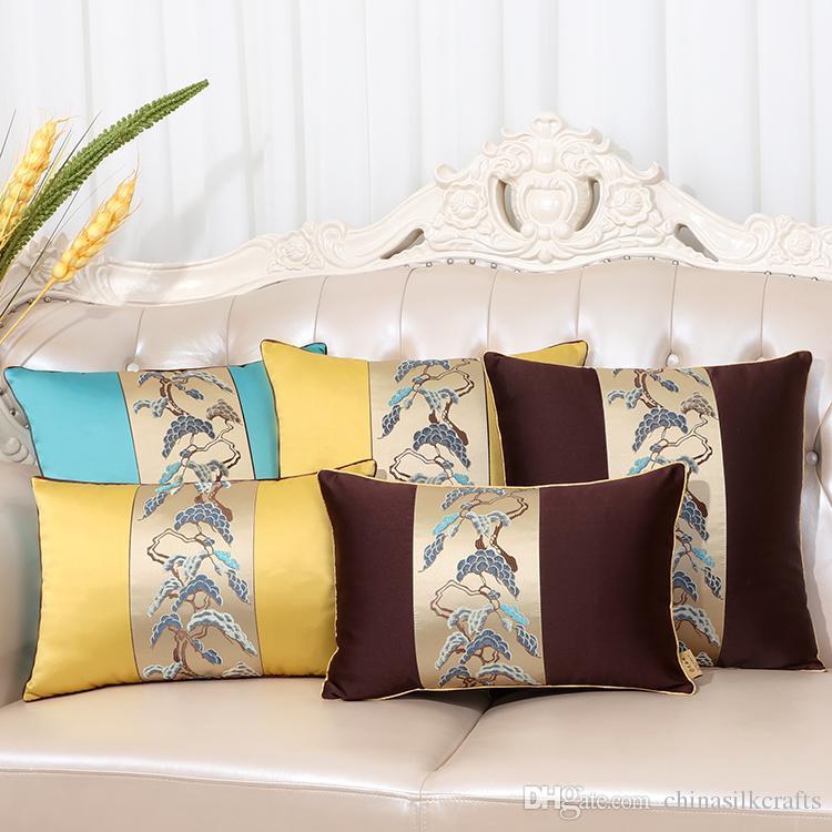 Grosshandel Europaischen Patchwork Seide Sofa Stuhl Kissenbezug Buro