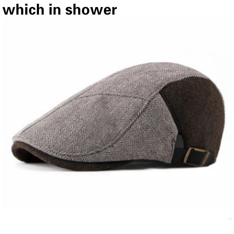 c84e7ae2 2019 Patchwork Thick Warm Winter Berets Vintage Plus Velvet Newsboy Cap  Retro Fleece Lining Boina Cabbie Male Strapback Flat Ivy Hats From Buafy,  ...