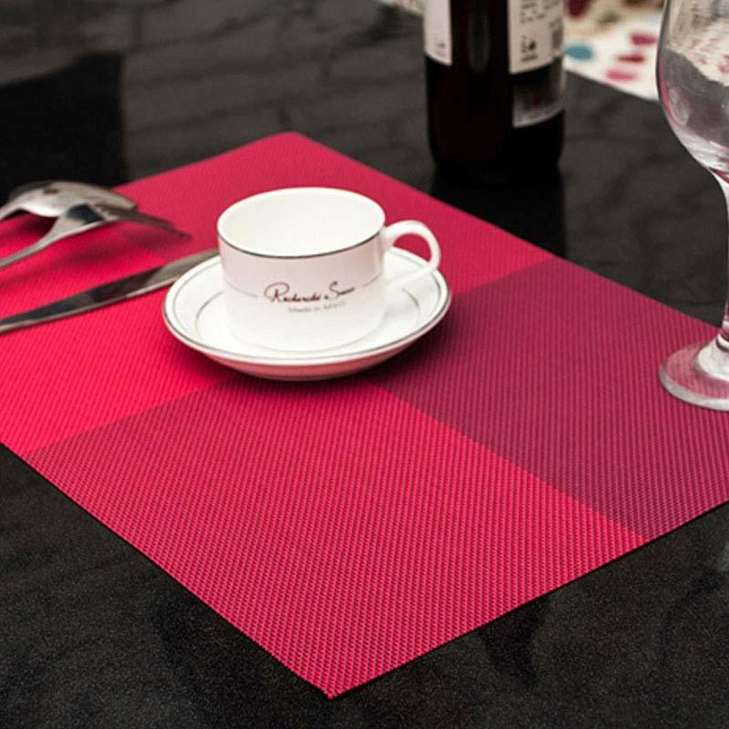 PVC Dining Table Placemat Europe Style Kitchen Tool Tableware Pad Coaster Coffee Place Mat