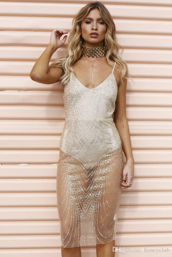 e1fe1107be Free shipping Strap SHIMMER GEM rhinestone mini clubwear dress honeymoon  new years eve outfit sexy transparent glitter sheer dress