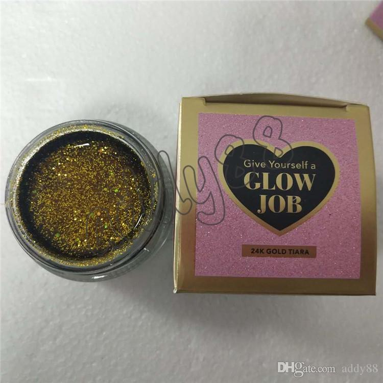 2018 New Faced GLOW JOB Radiance Boosting Give Glow Job Mask Glitter Face Mask Soft Facial Mask