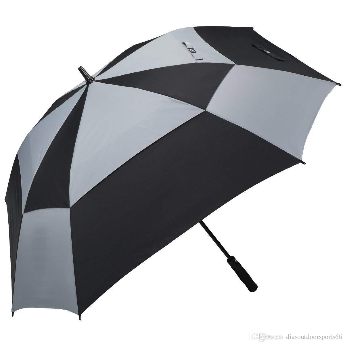 Satın Al Ekstra Büyük Golf şemsiye çift Gölgelik Bacalı Kare şemsiye