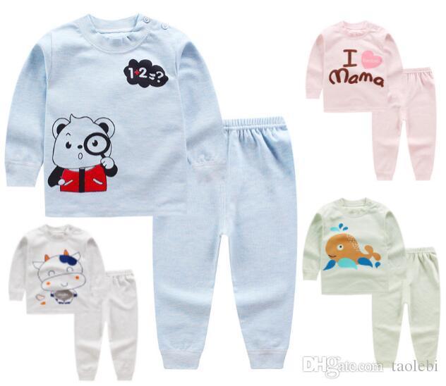 b90f2e90c1 DHL Free!100% Cotton Baby Kids Girls Boys Nightwear Pajamas Pyjamas  Sleepwear Suit 0-5 Years 36 Styles for Choose Baby Nightwear Kids Pajamas  Kid Sleepwear ...