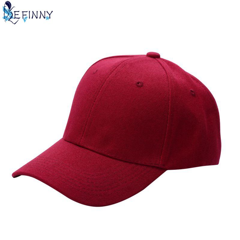 c60d990a6348e EFINNY Fashion Men Women Plain Baseball Cap Unisex Curved Visor Hat Hip-Hop  Adjustable Peaked Hat Visor Caps Solid Color 15