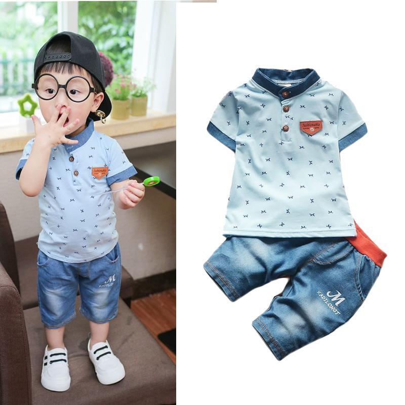 Compre verano nuevos bebés varones ropa de verano juegos de ropa jpg  800x800 Ropa para bebe 62798733f2a