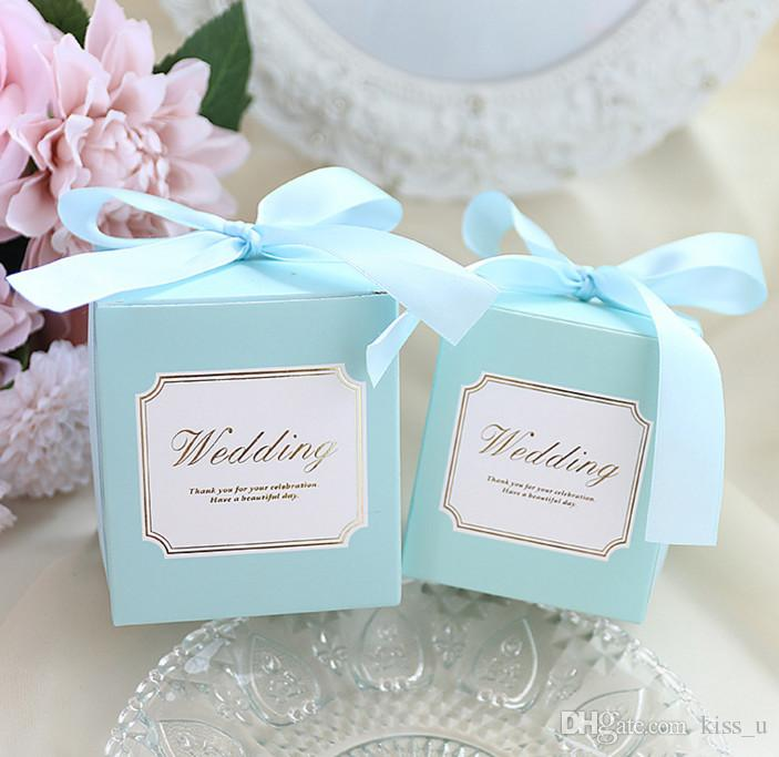 Crown Blue Pink Chocolate Box Packaging Candy Box Wedding Favors