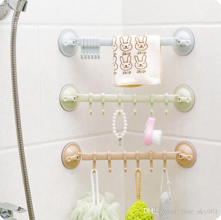 Großhandel Handtuchhalter Saugnapf 6 Haken Badezimmer Küche Wand Tür ...