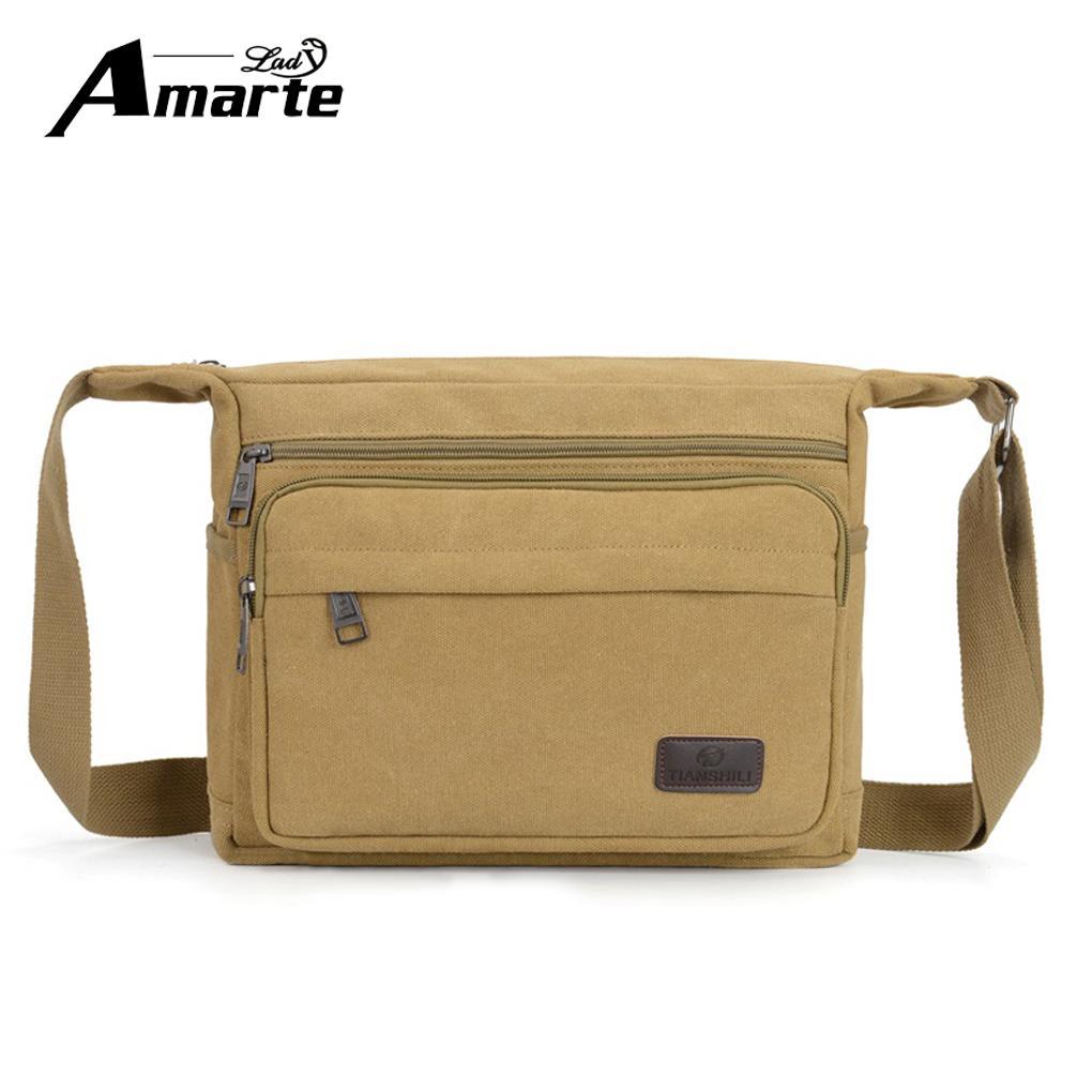 9b7e843bb662 Mens Vintage Canvas Shoulder Bag