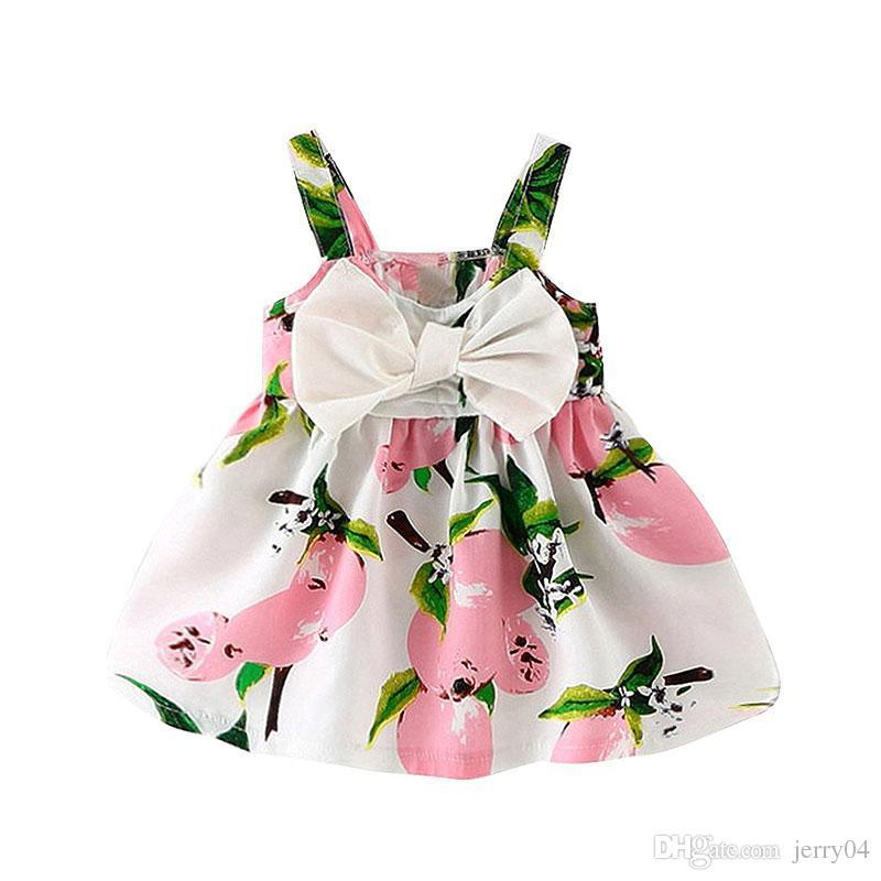 Compre Bebé Niños Vestidos Para Niñas 1 Año Cumpleaños Vestido Recién  Nacido Arco Ropa Infantil Vestidos De Tutú Ropa De Niños Vestidos Bebes A   3.77 Del ... 5fd3608d299e