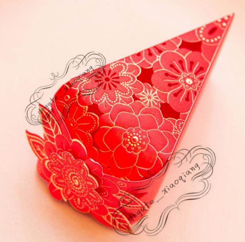 Venta al por mayor 500 / pastel coreano caja de dulces forma de triángulo bolsa de envoltura de regalo boda de cumpleaños caja de pastel de chocolate