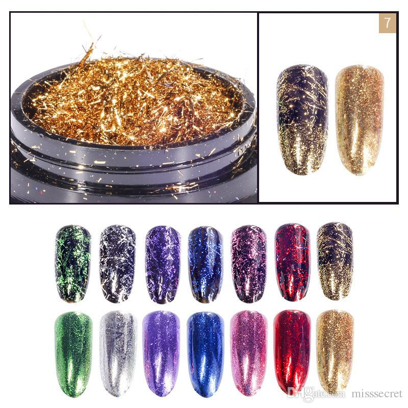 Nail Art Glitter Silk Stripes Lines Sequins Gold Silver Foil Nail Art Supplies Nail Makeup Maquillaje Flakes Decoration