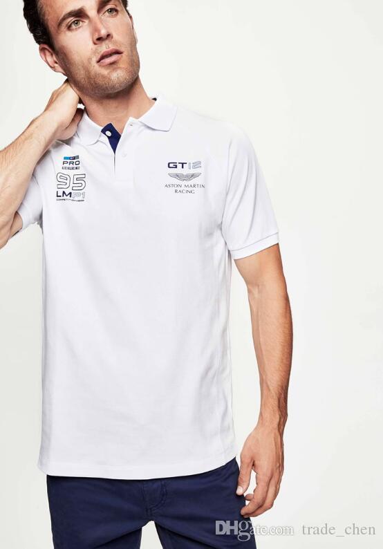 35bbf545b Compre Nova Moda Masculina De Lazer Camisa Polo Mens T Shirt Lapela T Shirt  De Manga Curta Masculina