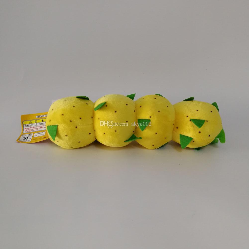 "Hot Sale 9"" 23cm Caterpillar Pokey Super Mario Bros Plush Dolls Stuffed Animals Toys Children Gift kids"