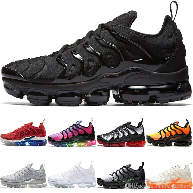 2e9ba21bf83 2019 Cheap TN PLUS Mens Women Running Shoes BE TRUE Yellow Triple Black  White Hyper Blue Volt Men Designer Trainer Sport Sneaker From  Onlinesneakers