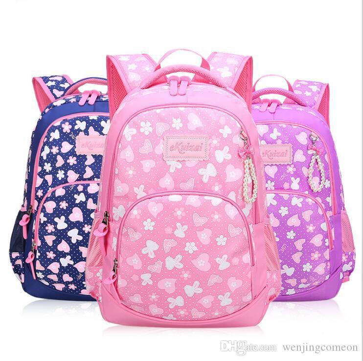 431c61d542152 Großhandel Wasserdichte Schultaschen Für Mädchen Niedlich  Schmetterlingsdekoration Rucksack Laptoptasche Schüler Schultasche Mädchen  Schultasche Junge ...