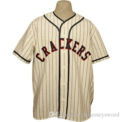 Atlanta Crackers 1938 Home Jersey 100% Stitched Embroidery Logos ... 9b0bae16b