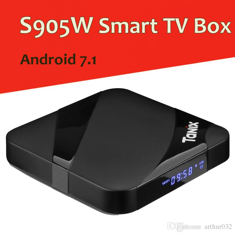Tanix TX3 Max TV Box Android 7 1 Amlogic S905W with New ALICE UX 2GB 16GB  Set Top Box 2 4G Wifi BT4 1 Media Player