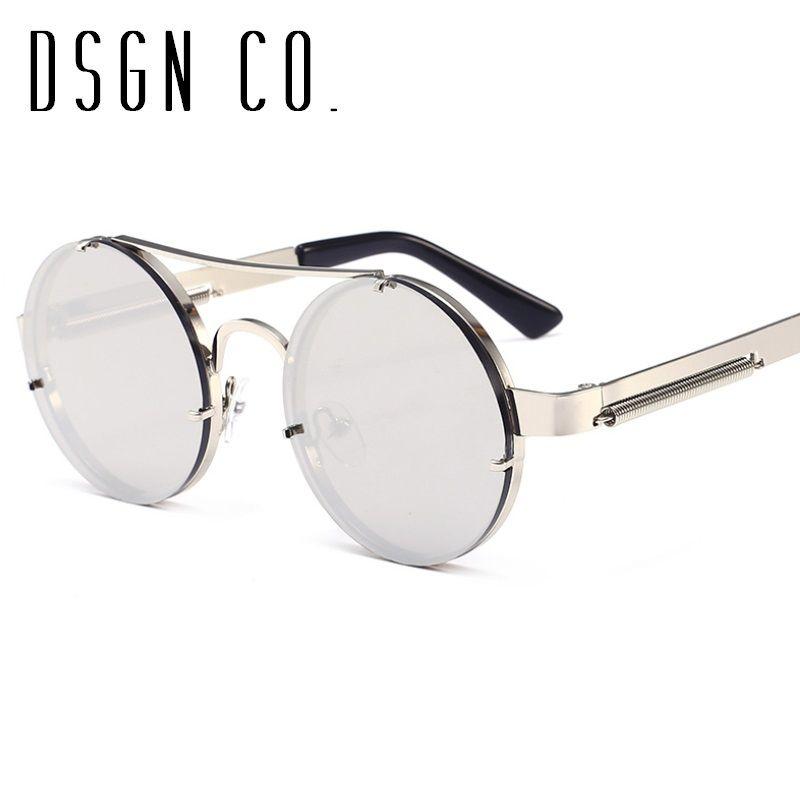 24276b458af0 Old School Retro Steampunk Sunglasses For Men And Women Round Designer  Unisex Sun Glasses UV400 Heart Sunglasses Circle Sunglasses From Dsgn