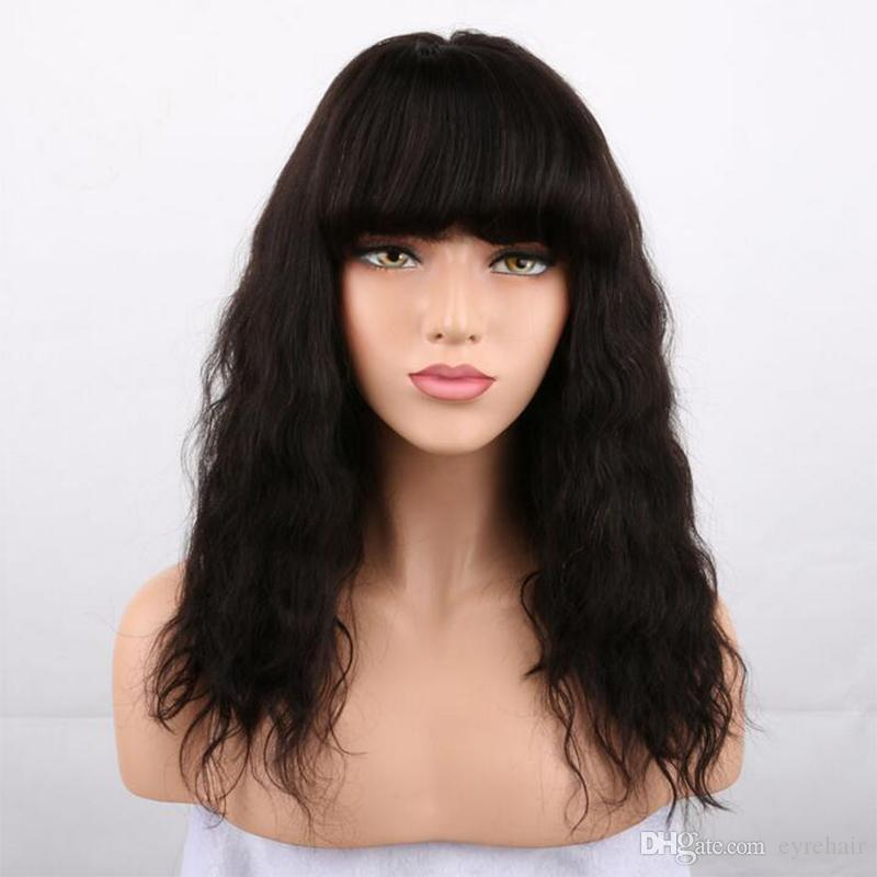 Short Wavy Human Hair Wigs Full Lace Wig