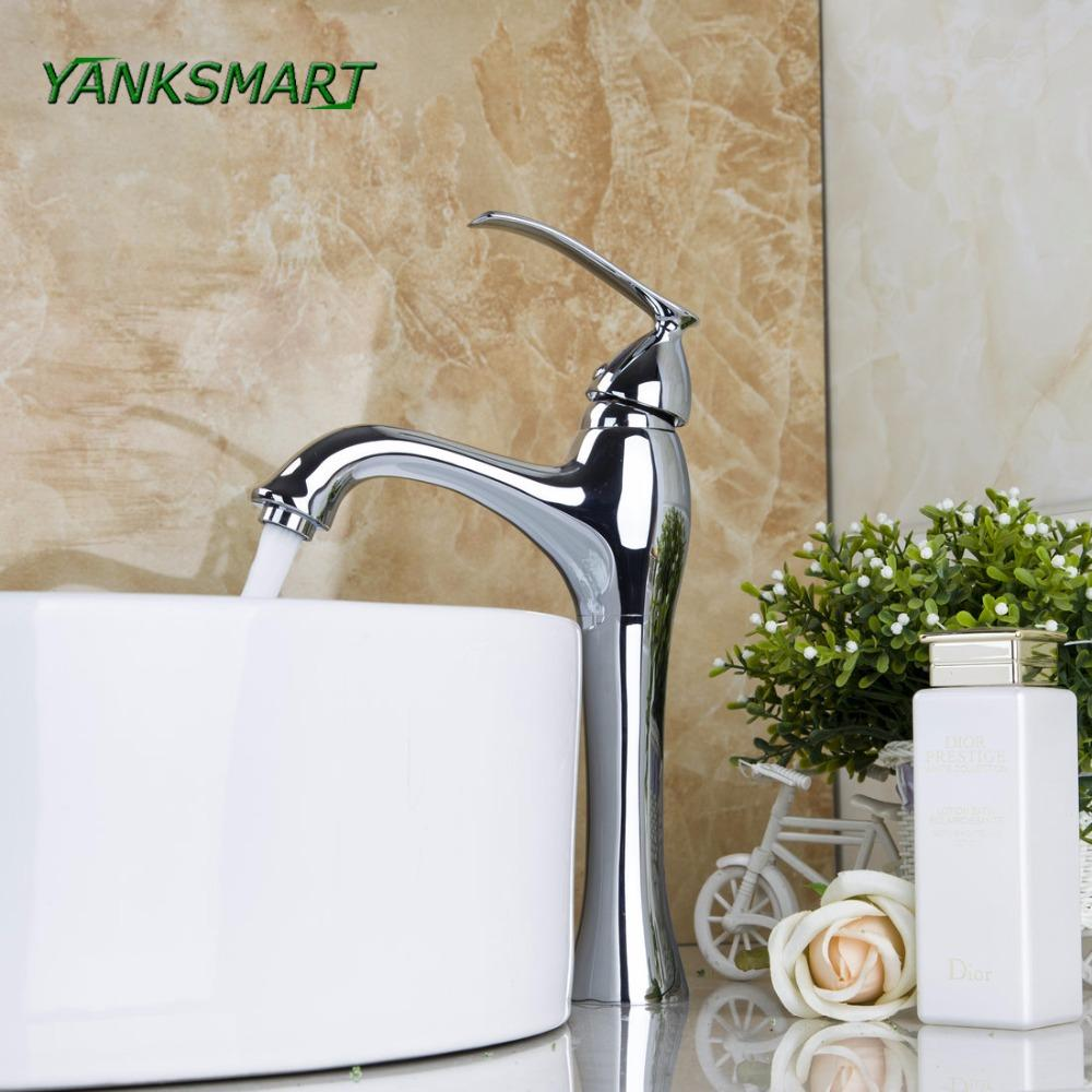 amazing Faucets Uk Part - 9: Wholesale-YANKSMART UK Bathroom Deck Mounted Chrome Polished Faucets Basin  Sink Mixer Water Tap W- Single Lever Taps Water Tap Deck Mounted Chrome  Polish ...