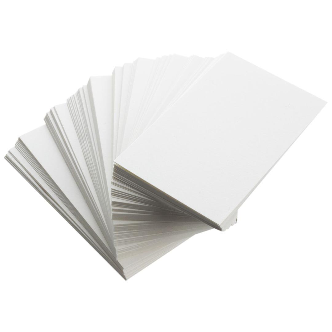 New White Blank Business Cards 129gsm 90 X 50mm Print Your Own