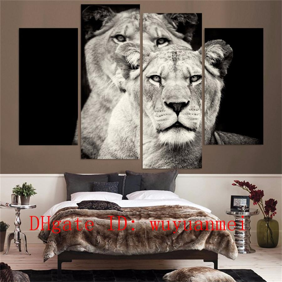 2018 Black And White Lion , Home Decor Hd Printed Modern Art Painting On  Canvas Unframed/Framed From Wuyuanmei, $17.94 | Dhgate.Com