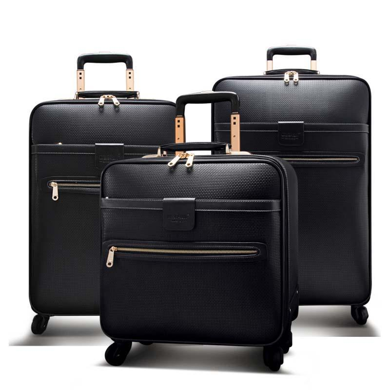 113fbe37a867 Men Business Rolling Luggage Spinner 16 Inch Cabin Trolley Password ...