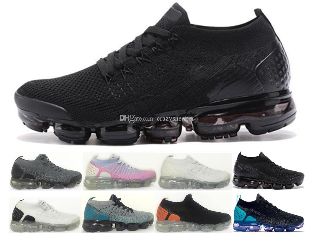 75357fea269 New 2018 Cushion Air 2.0 Running Shoes Men Women Vapormax2018 Black ...