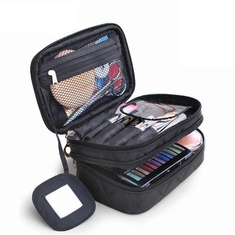 Women Big Capacity Cosmetic Bag Travel Professional Makeup Bag Organizer Case Beauty Make Up Storage Pouch Wash Kit Toiletry Box