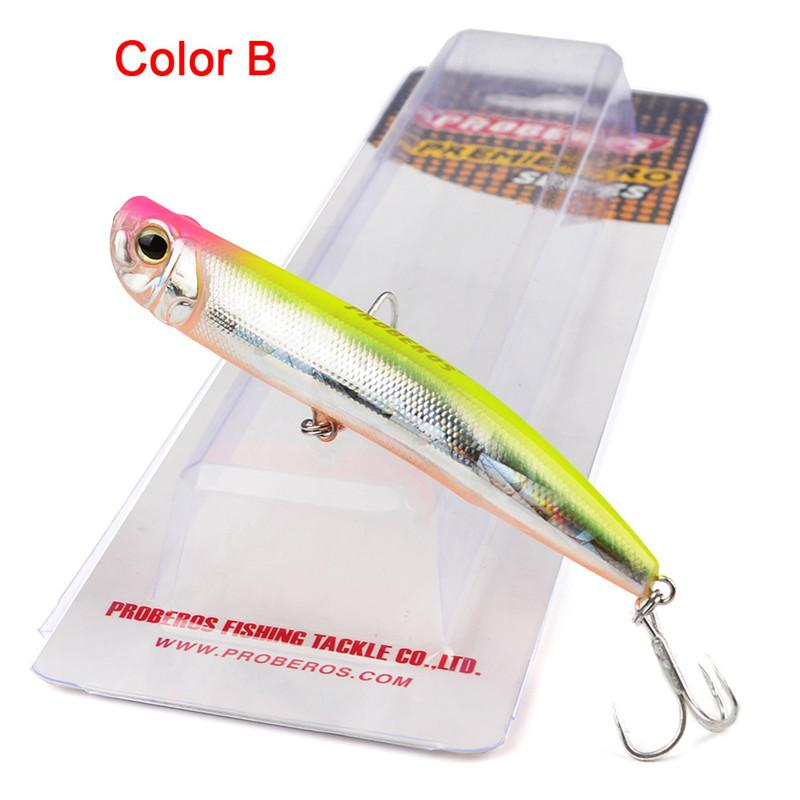 Floating Swimming Drag Popper Artificial Laser Swimbait 9cm 10g Lip-less Shad fishing Pencil lure bass bait