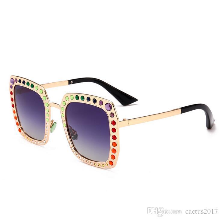 cac545cf6ea Square Diamond Inserts Oversized Women Gold Sunglasses Metal Frame  Rhinestone Big Sunglasses Polarized Square Glasses Women Dragon Sunglasses  Vintage ...
