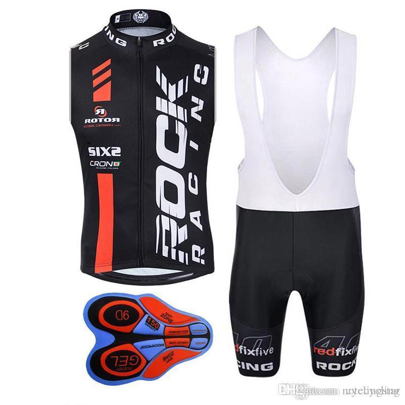 Rock Racing 2018 Pro Cycling Jersey Summer Ropa Ciclismo Mtb Bike Men Cycling  Clothing Bicycle Clothes Sleeveless Vest Bib Shorts Set G191 Womens Cycling  ... e86b515fa