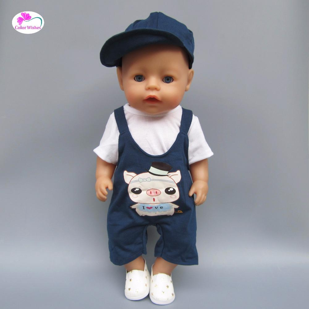 Clothes For Dolls Fits 43 45cm American Girl Baby Born Zapf Doll Casual Clothes  Dress Crawling Dolls With Accessories Boy Baby Doll Accessories From Curd 888402b7aaac