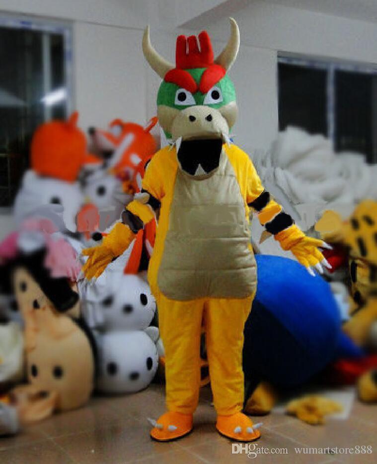 Bowser Koopa Mascot Costumes Animated Theme Super Mario Cospaly