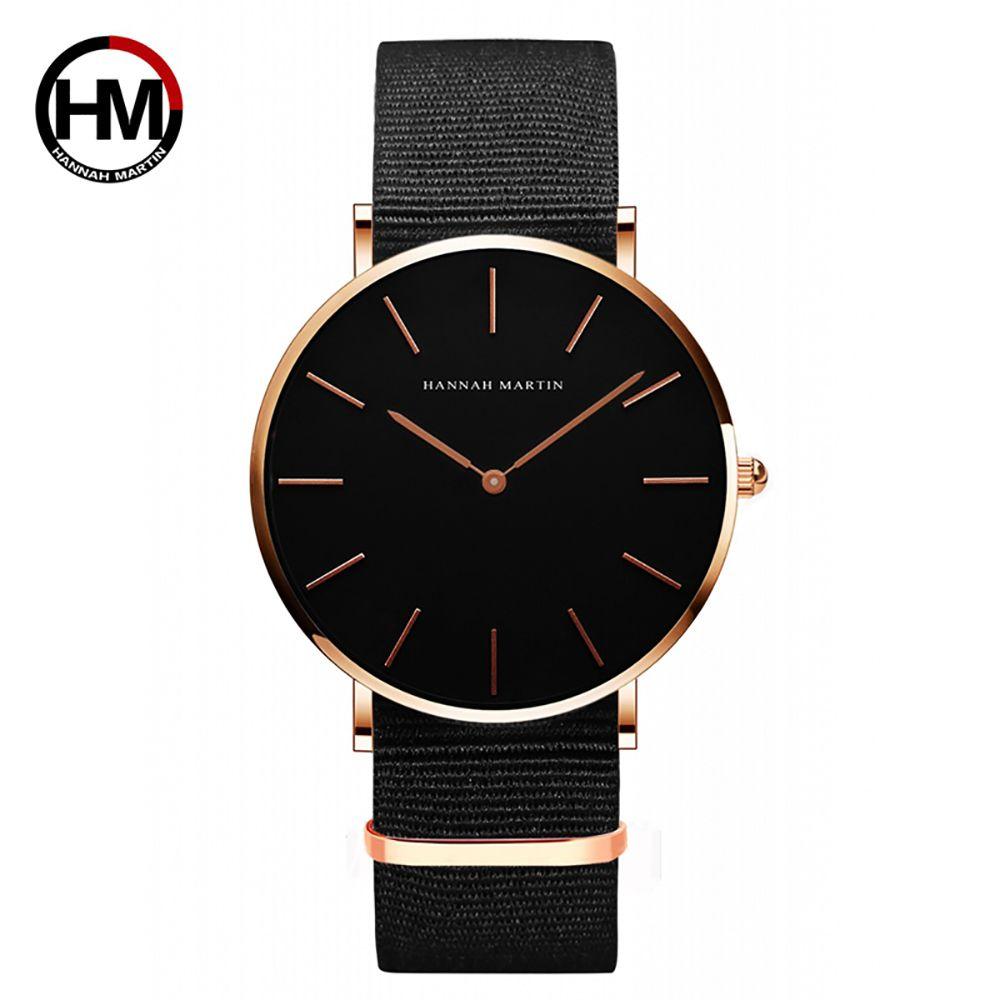 06d18dd91b2 Compre Casal Casal Relógio De Quartzo Das Mulheres Dos Homens Relógios De  Pulso De Luxo Da Marca De Nylon Preto Masculino Relógio Feminino 40mm  Relógio À ...